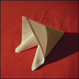 easy napkin folding technique the slide fold